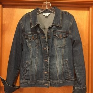 Perfect denim jacket with stretch